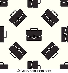 Grey Briefcase icon isolated seamless pattern on white background. Business case sign. Business portfolio. Vector Illustration