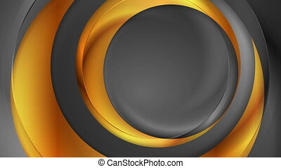 Grey, bronze and golden abstract glossy video animation -...