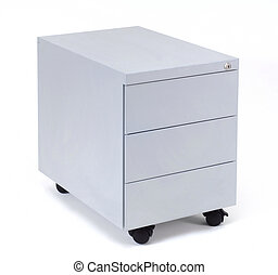 coffer - grey business coffer isolated at white background