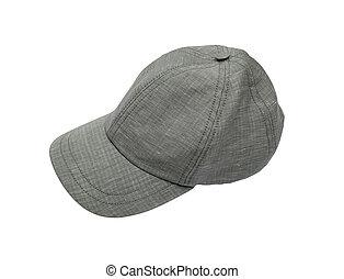Grey cap isolated on white background