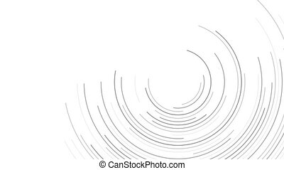Grey circular lines abstract futuristic video animation