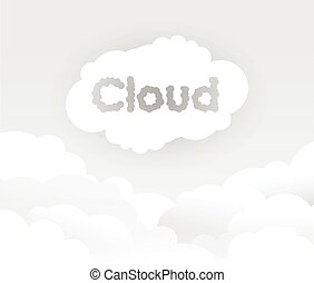 grey cloud background