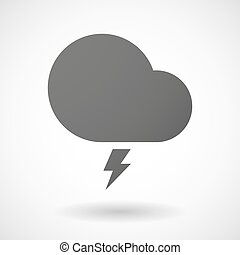 Grey cloud icon