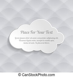 grey cloud on the seamless waves abstract pattern