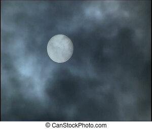 Grey clouds.