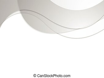 Grey corporate wavy abstract background