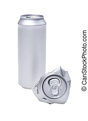 Grey Crumpled beverage can