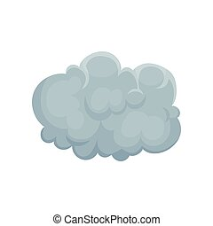 Grey cumulus cloud vector Illustration on a white background