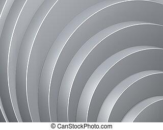 grey curve of cylinder steps background