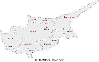 Grey Cyprus map