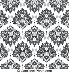 grey damask - Seamless damask wallpaper grey tones