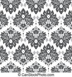 grey damask - Seamless damask wallpaper grey tones
