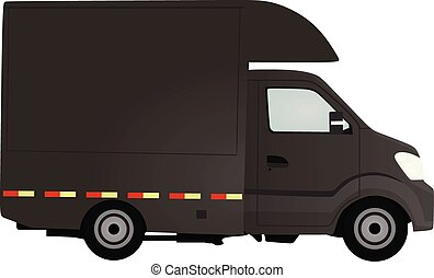 Grey delivery truck