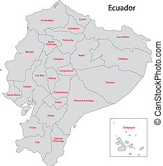 Grey Ecuador map