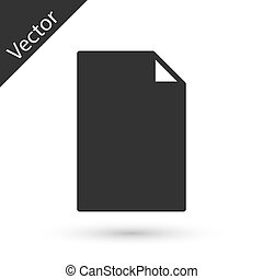 Grey Empty document icon isolated on white background. Checklist icon. Business concept. Vector