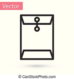 Grey Envelope icon isolated on white background. Email message letter symbol. Vector Illustration