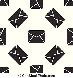 Grey Envelope icon isolated seamless pattern on white background. Email message letter symbol. Vector Illustration