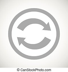 Grey exchange sign icon - Grey image of exchange symbol in...
