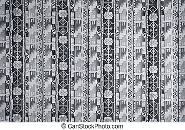 Grey fabric background with geometry pattern