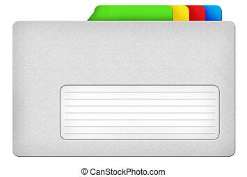 Grey file folder