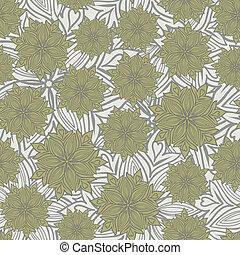 Grey floral background