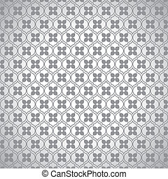 grey flower pattern - grey flower on white background stock...