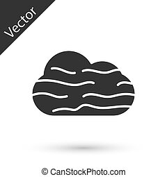 Grey Fog and cloud icon isolated on white background. Vector Illustration