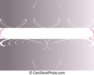 Grey Floral Copyspace - (Vector Format)