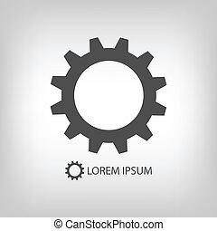 Grey gearwheel