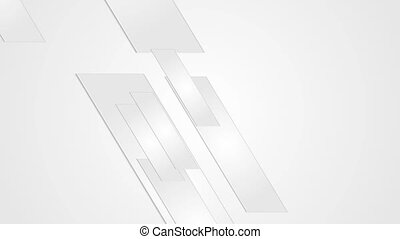 Grey geometric abstract business motion design - Grey paper...