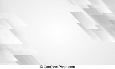 Grey geometric abstract tech motion design. Seamless...