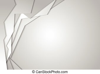 Grey geometric corporate background