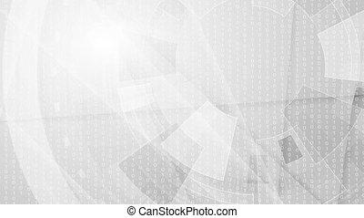 Grey geometric technology video animation