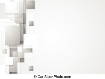 Grey geometry hi-tech background. Vector design