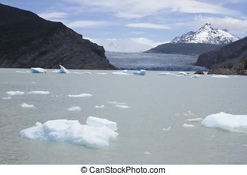 Grey Glacier on Grey Lake, Torres del Paine National Park, Chile