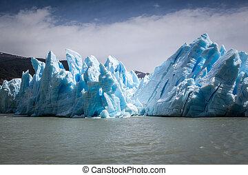 Grey Glacier, Torres del Paine, Chile.