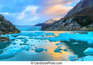 Grey Glacier,Patagonia, Chile,Southern Patagonian Ice Field, Cordillera del Paine