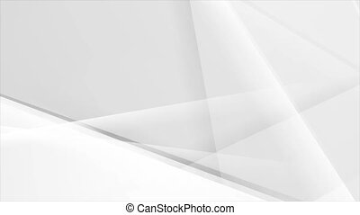 Grey glossy stripes abstract tech low poly motion background. Seamless looping. Video animation Ultra HD 4K 3840x2160