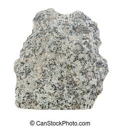 Grey Granite Stone Isolated on White Background