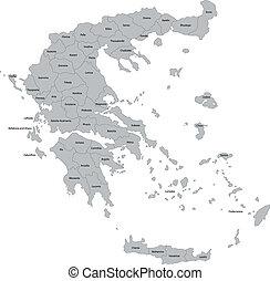 Grey Greece map