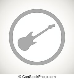 Grey Guitar Sign Icon