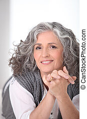 Grey-haired lady