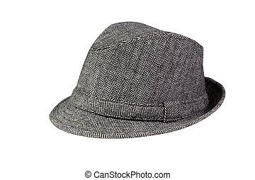 Grey Hat isolated on white