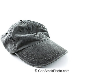 grey hat on a white
