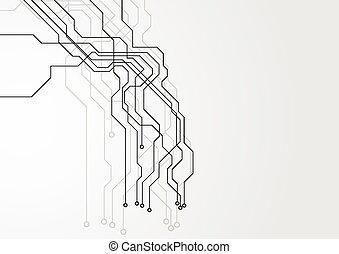 Grey hi-tech circuit board background