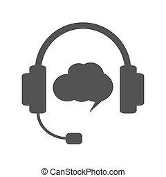 Grey hotline or support illustration