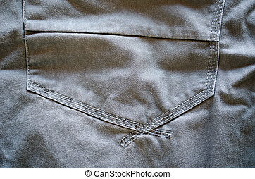 grey jeans trousers pocket piece background