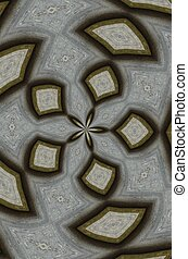Grey kaleidoscope pattern