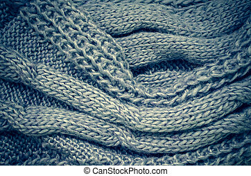 Grey knitting wool texture background