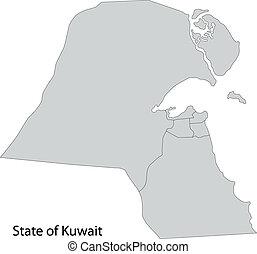Grey Kuwait map